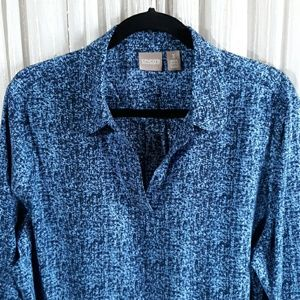 Chicos Blue Tunic Top